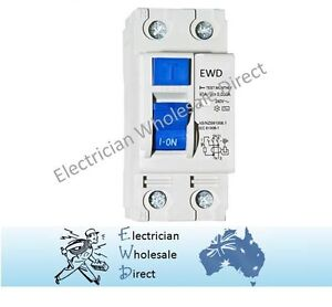 2 Pole 40 Amp RCD Safety Switch For Switchboard Electrical