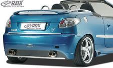 RDX Stoßstange PEUGEOT 206 (auch CC) Heck Schürze Hinten Spoiler Tuning Diffusor