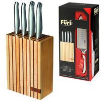 100% Genuine! FURI Pro 5 Piece Wood Knife Block Set! RRP $399.00!