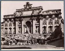 Italie, Fontana di Trevi, Roma Vintage albumen print.  Tirage albuminé  18x2
