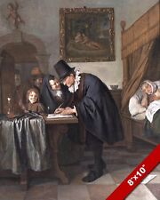 17TH CENTURY DUTCH MEDICINE DOCTOR HOUSE VISIT PAINTING ART REAL CANVAS PRINT