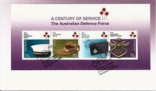 2014 Australia - Century of Service - Australian Defence Force Mini Sheet FDC