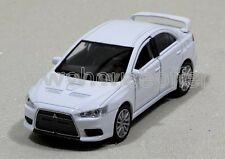 WELLY DISPLAY MITSUBISHI LANCER EVOLUTION X DIECAST CAR WHITE 43655D