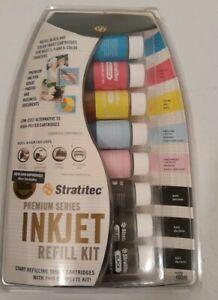 STRATITEC Premium Series Inkjet Printer Ink Refill Kit, Universal