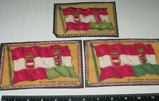 AUSTRIA-HUNGARY Vintage c.1910 TOBACCO FELT/FLAGS Lot (3)