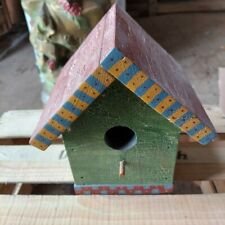 Wood Colorful Bird House