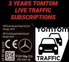NEW 2020 MERCEDES GARMIN SD CARD WITH 3 YEARS TOMTOM LIVE TRAFFIC MAPS C/E/GLC/X