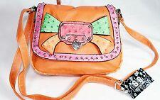 Damentasche Clutch Tasche Damen Handtasche Neu G.B. orange Bunt