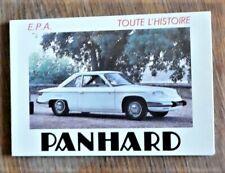 Automobile TOUTE L'HISTOIRE PANHARD Editions   E. P. A.