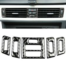 Carbon Fiber Interior Central Air vent Outlet Trim For BMW E90 E92 E93 2005-2012