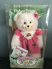 1999 Fisher Price BRIARBERRY BERRYLYNN BEAR Berry Lynn Pink Plush Animal NEW