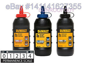 DeWALT Marking Chalk Refill 8oz Various Color - NEW