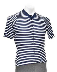 Black Sheep Team Collection Stripes Short Slv Road Bike Jersey Men MEDIUM Blue