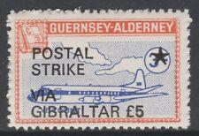 Cinderella 6658 - 1971 ALDERNEY AIRCRAFT opt'd POSTAL STRIKE VIA GIBRALTAR £5