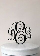 Custom Monogram Wedding Cake Topper - Vine Monogram wedding cake topper
