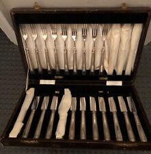 Antique Vintage Solid Silver Pickle Knives & Forks Martin Hall & Co. Hallmarked