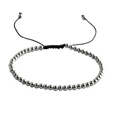 10PC 4mm Stainless Steel Ball Bead Adjustable Bracelet Jewelry Christmas Gift