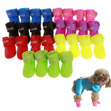 4pcs Pet Dog Rubber Rain Boots Anti-slip Waterproof Snow Shoes Paw Protector