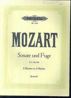Mozart ~ Sonate und Fuge KV. 448, 426 ~ 2 Klaviere zu 4 Händen
