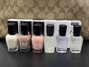 NEW Zoya Naked Manicure Satin Gloss Seal Base Pink Nude White .5oz