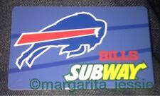 SUBWAY GIFT CARD NO VALUE 2015 BUFFALO BILLS NFL NY EXCLUSIVE US NEW LIMITED HTF