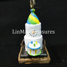 S'mores Birthday Ornament Happy Birthday Ornament with Birthday Cake Midwest CBK