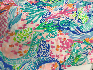 Pottery Barn Kids Lilly Pulitzer Organic Mermaid Cove Duvet Cover Full/Queen