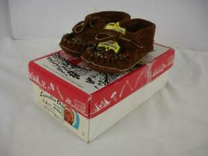 Cute Toddler Childs Leather Laurentian Chief Mocassins Size 5 Eugene Cloutier