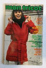 Vtg 1970s Mon Tricot Creative Knitting Crochet Pattern Book Fall/Winter France