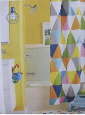 "Circo Triangles Fabric Shower Curtain 72"" x 72"" Kids Bath Decor"