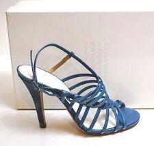 Maison Martin Margiela Blue Leather Strappy Heels EU 38 US 8