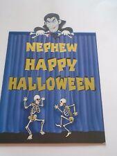 Nephew Happy Halloween Card with Envelope Dancing Skeletons