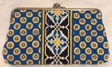 Vera Bradley Retired Riviera Blue Kisslock Wallet