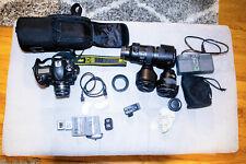 Nikon D5 Dual XQD Slots  15k shutter + 4 LENSES+ 2 XQD cards + 2 batteries+WIFI