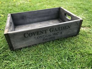 48cm Rustic Vintage Style Wooden Tray Covent Garden