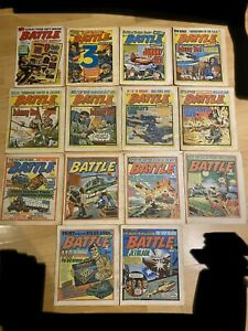 Battle Picture Weekly / Battle Action Comic Bundle X 14. Inc Issue Number 1