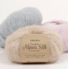 Fuzzy Alpaca and Silk Yarn, Knitting Yarn 0.9 oz Drops BRUSHED ALPACA SILK