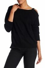NEW Vince Cashmere Cold Shoulder Tunic in Black - Size L