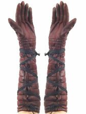BROWN GLOVES Game of Thrones Style LARP Cosplay Adult Medieval Warrior   B76