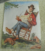 Vintage 1930s Print The Gay Philosopher Sez Man in Rocking Chair