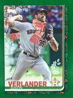2019 Topps Holiday JUSTIN VERLANDER SP Photo Variation (063) SCARF Astros #HW129