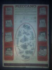 Publicité ancienne MECCANO - LA MECANIQUE EN MINIATURE - 35 x 26 cm - réclame