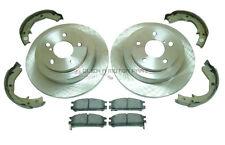 for SUBARU IMPREZA 93-98 WRX TURBO REAR 2 BRAKE DISCS & PADS & HANDBRAKE SHOES
