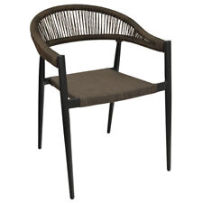 New Outdoor Fiji Arm Chair with Espresso Textaline Rope Woven Back