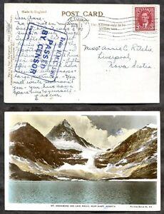 VICTORIA BC 1941 Domestic Naval Censored Postcard to Liverpool NS      (p02092