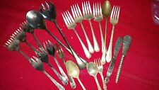 20 pc mixed silver plated lot flatware