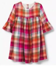 Nwt Gymboree Creative Types Pink Orange Blue Green Plaid Dress Girls Size 5