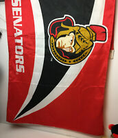 Vintage Ottawa Senators 3X5 Full Size NHL Hockey Collectible Flag