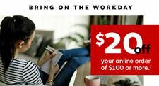 STAPLES Coupon $20 Off $100 Online Order SENT IMMEDIATELY - Expires 10/30/2020