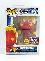 FUNKO POP! MARVEL: FANTASTIC FOUR - HUMAN TORCH (GITD) CORPS EXC.#572 *UK STOCK*